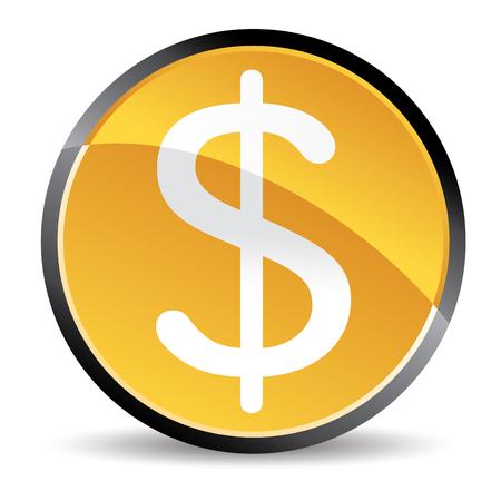 geld: geldsymbool  Stock Illustratie