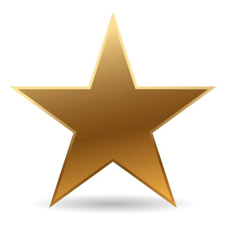 Cool stella dorata con ombra Archivio Fotografico - 5850715