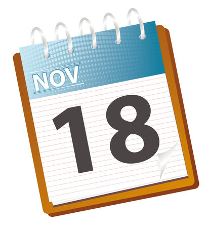 schedule appointment: calendar of november in vector mode