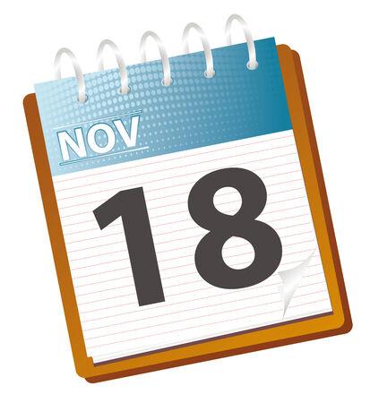 calendar: calendar of november in vector mode