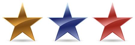 star award: stars in colors, vector mode