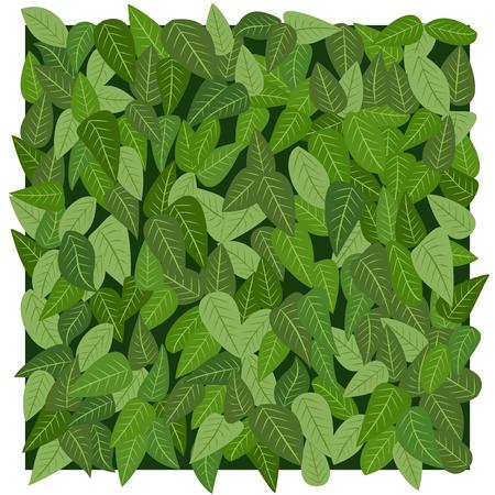 Naadloze: Leafs textuur in vector-modus Stock Illustratie