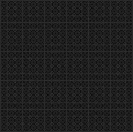 antiek behang: zwarte bloem textuur in de vector modus Stock Illustratie
