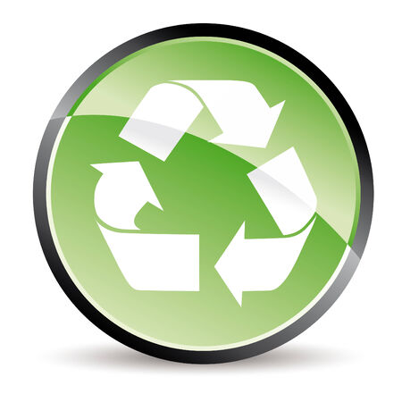 beginnings: green recycle button in vector mode