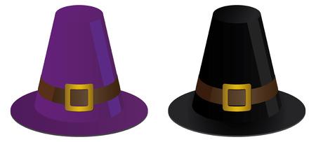 pilgrim hat: two pilgrims hats for thanksgiving