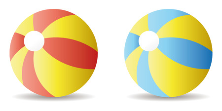 inflar: par de pelota de playa en modo vectorial