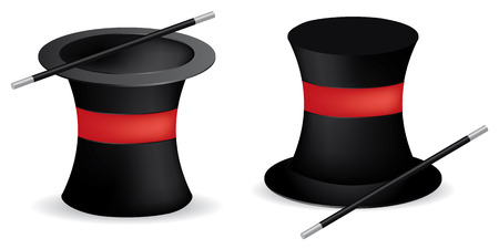 magician hat in two visions, make magic Vector