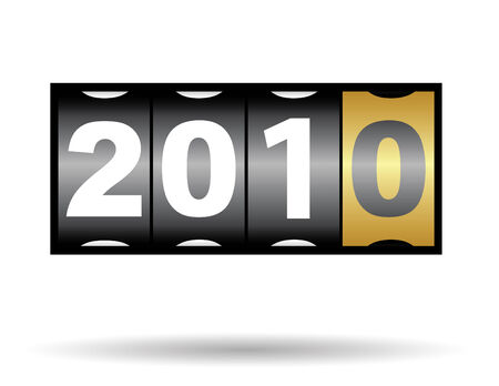 2010 new year counter in vector mode Stock Vector - 6061799