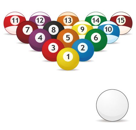 billard balls trail, white for shoot in vector Stock Vector - 6061804