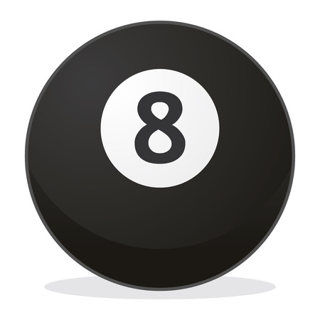 ball number 8 in vector mode, cool Ilustrace