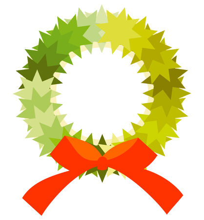xmas crown for holidays in vector mode Stock Vector - 6090170