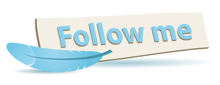 follow me board for your web or blog site Illustration