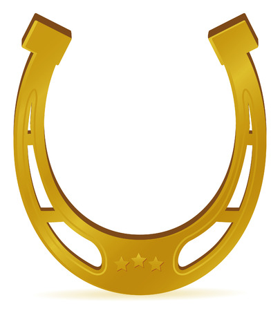 foot path: horse shoe for lucky for new year Illustration