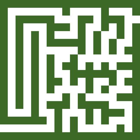 maze in vector mode color green for fun