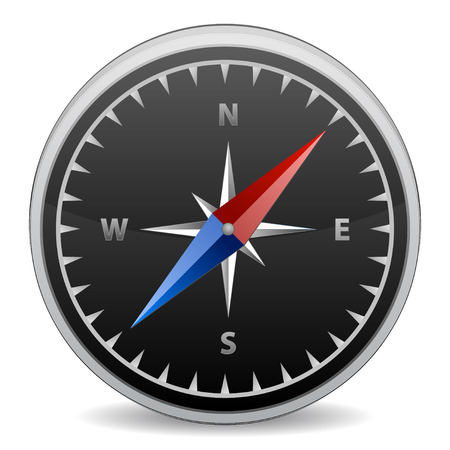 3d compass in vector mode, lost and find Stock Vector - 6218421
