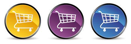 set of shopping cart icon in vector mode Vector
