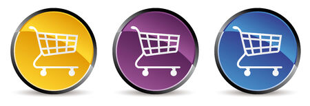 icon: set of shopping cart icon in vector mode