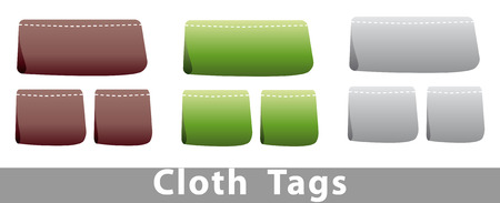 set of cloth tags in different colors Stock Vector - 6360399