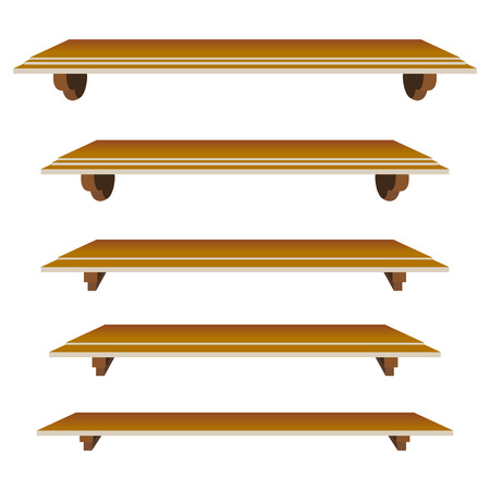 set of shelfs in  mode for decor Stock Vector - 6381471