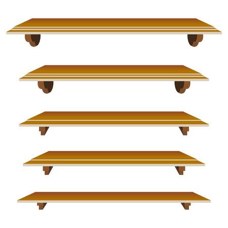 set of shelfs in  mode for decor Stock Vector - 6381471