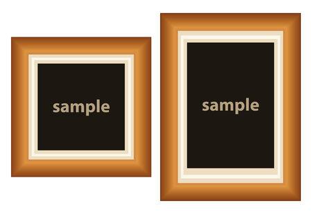 Satz von zwei Frames für zu setzen, was Sie wollen, innerhalb  Standard-Bild - 6400080