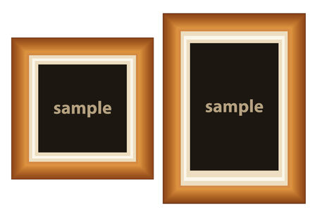 set of two frames for put what you want inside Illustration