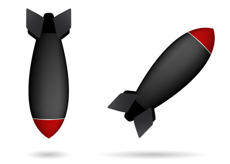 atomic energy: set of two rocket bombs  Illustration
