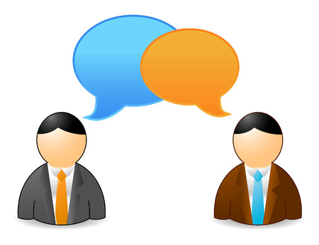 two persons speaking, file  Vector