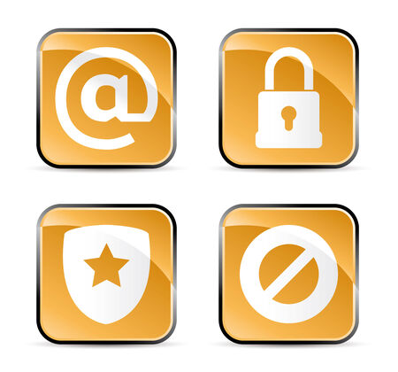 set of four security icons for your web site Stock Vector - 6636573