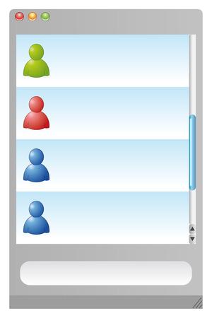 컴퓨터의 인스턴트 메시지 용 웹 브라우저 스톡 콘텐츠 - 6730042