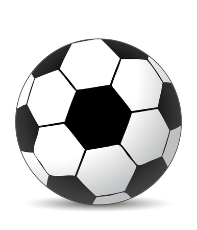 balck: soccer ball in white and balck colors