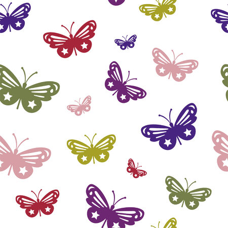 butterfly texture with many sizes and colors Illustration