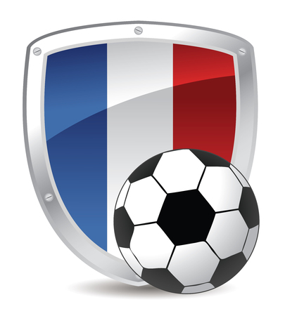 france shield soccer in colors Vector
