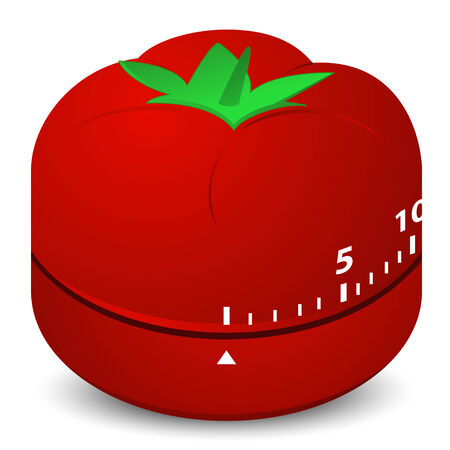 tomato clock timer for cook in kitchen Vector