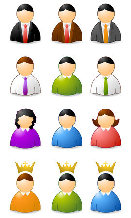 painting jobs: set of user icons, woman an men