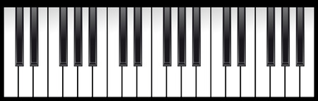 set of piano keys in illustration, black and white Stock Vector - 7084793