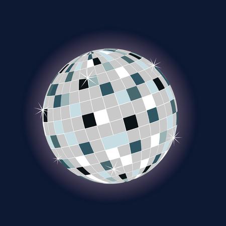 dancefloor: colored disco ball for teh dance floor