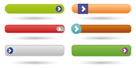 set of six web buttons with play sign Vector