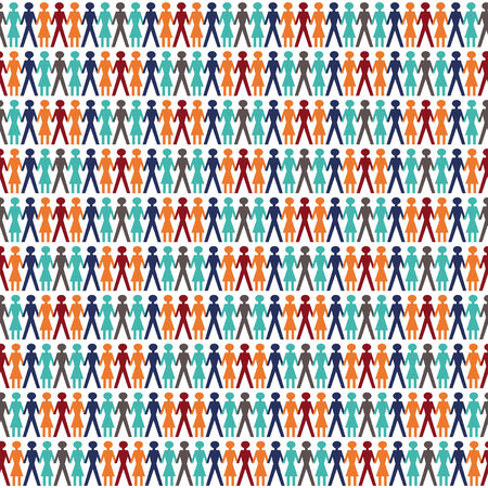background with people in tile mode sameless for backgrounds Vector