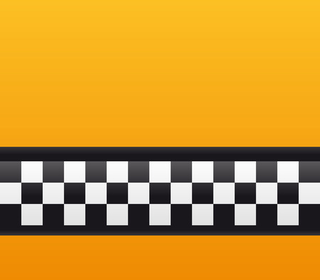 close up of taxi cab background in NY Vector