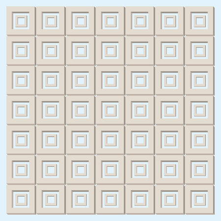 brown squares texture, like greek wall Vector