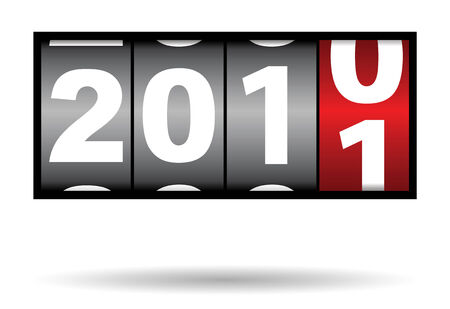 counter of 2010 to 2011 change of year Vector