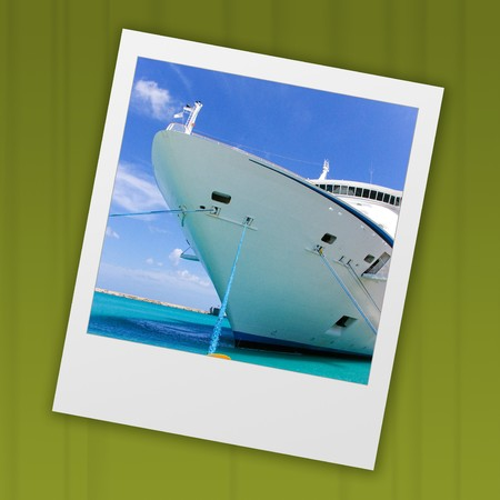 cruises: slide from instant camera of cruise ship