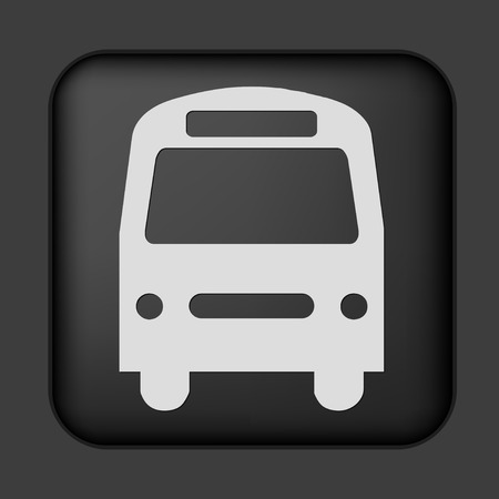 icon in black with silver bus Vector