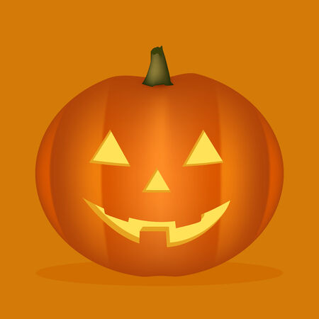 halloween pumpkin with orange back Stock Vector - 8109421