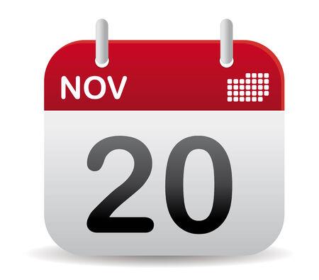 calendar: november red calendar stand up