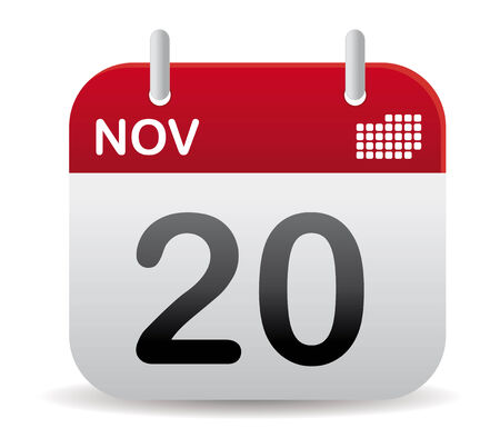 november red calendar stand up
