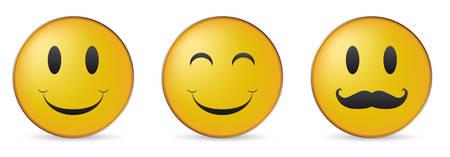 set of three happy faces Stock Vector - 8125809