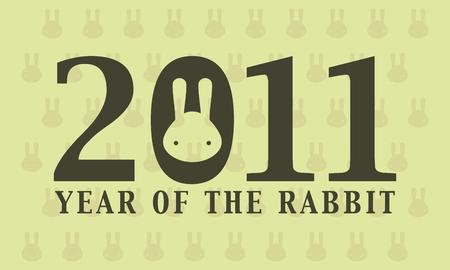 2011 year of rabbit wallpaper Stock Vector - 8433223