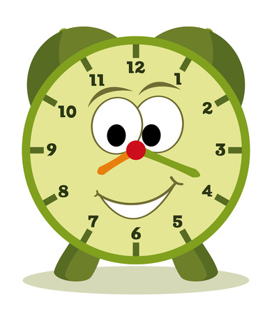 funny cartoon clock for kids